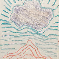 Happy Cloud Crayon Sketch by Edward Miller