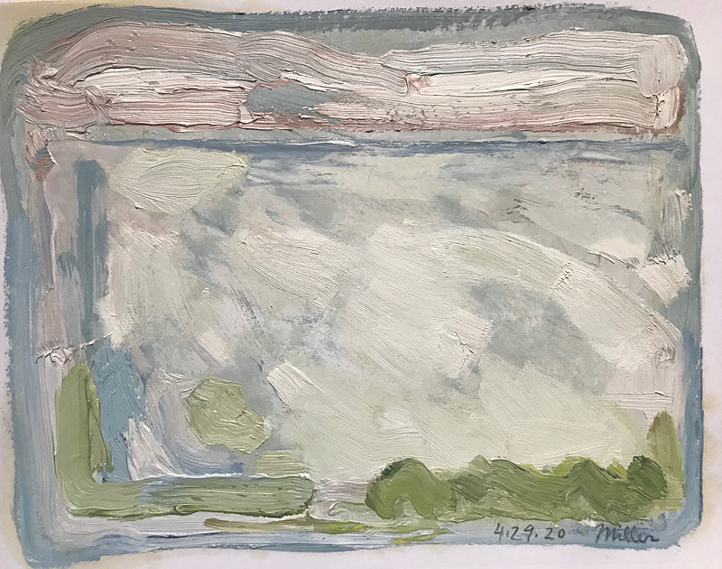 Cold Spring Oil Sketch by Edward Miller