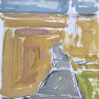 Spare Road Oil Sketch by Edward Miller