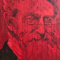 John Brown Blood Red and Black 48x30 by Edward Miller