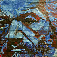 Frederick Douglass Blue 30x48 by Edward Miller