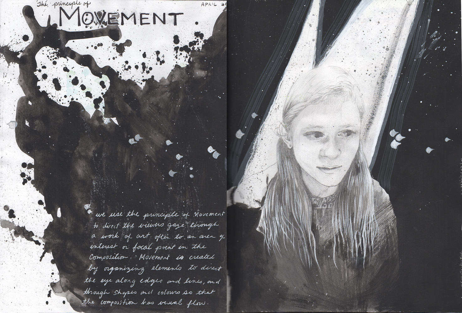 Drawing Movement Visual Journal Pages by Amber Macgregor