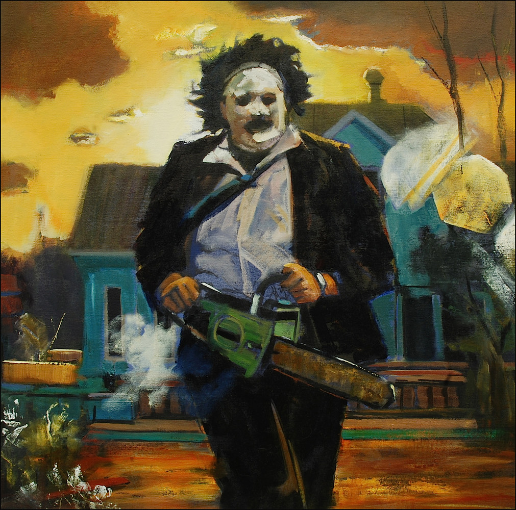 Oil painting Leatherface Sunset by Angelo Mariano