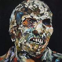 Oil painting Zombi Due by Angelo Mariano