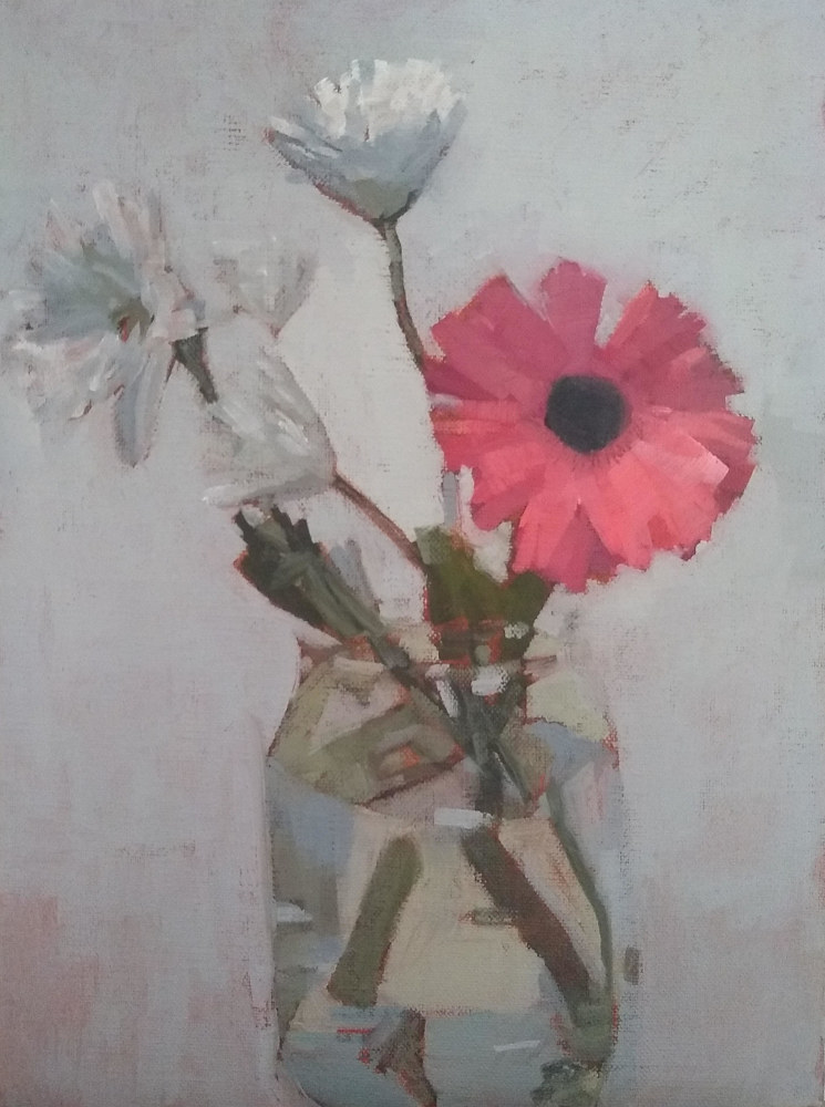 Oil painting Jordan's Flowers by Karen Smith