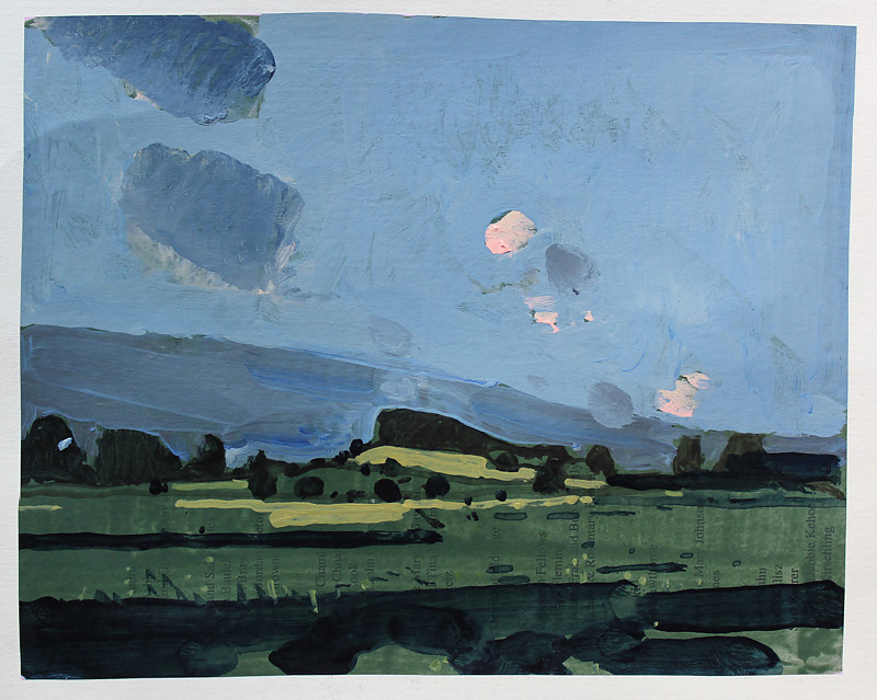 Acrylic painting July Evening, 10 Saved Acres by Harry Stooshinoff