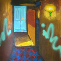 Painting Tagged Interior by Gordon Sellen