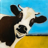 "Acrylic painting ""Daisy"" Available for purchase through Fogue Gallery, Seattle WA by carol Ross"