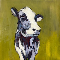"Acrylic painting ""Greenie"" Available for purchase through Fogue Gallery, Seattle WA by carol Ross"
