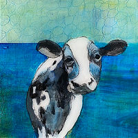 "Acrylic painting ""Blue"" Available for purchase through Fogue Gallery, Seattle WA by carol Ross"