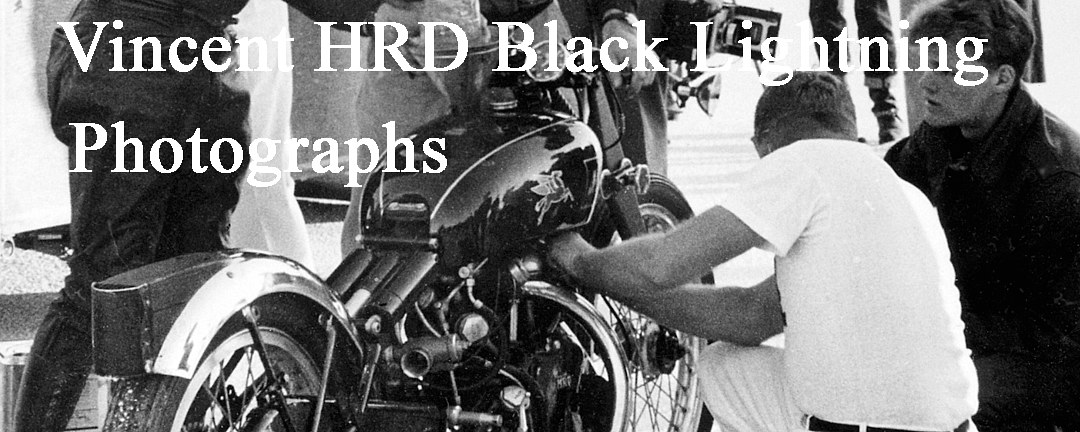 Vincent HRD Black Lightning Gallery - William Edgar Archive by William Edgar