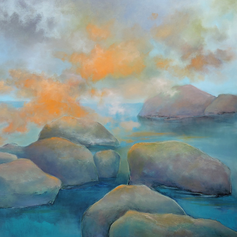 Painting Clouds by the Coast. by Svetlana Barker