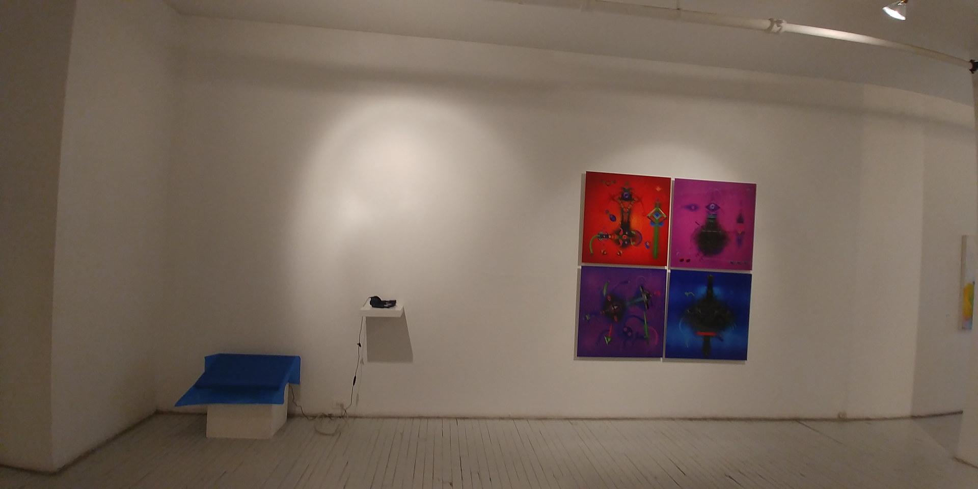 """Every letter is a sound... every word is an image"" exhibition view by Krasimira Dimtchevska"