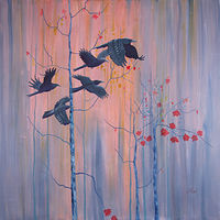 Acrylic painting The Flight  by Louise Hall by Passionate Painters