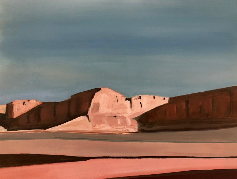 Oil painting Red Mesa Angles by Steve Latimer