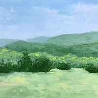 "Oil painting ""Summer Greens"" by Anne French"