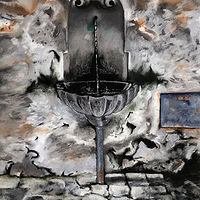 Drawing Orvieto Fountain by Pamela  Speight