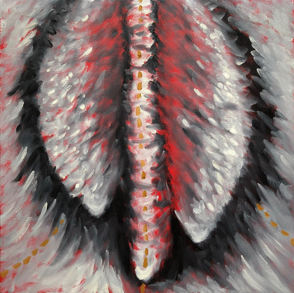 Oil painting Pod 4 by Pamela  Speight