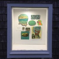 Window Gallery, Sointula Art Shed, July 2020 by Linda Henningson