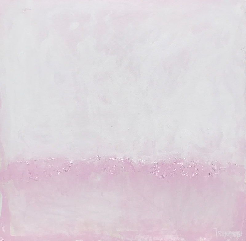 Acrylic painting Horizon in Pink by Sarah Trundle