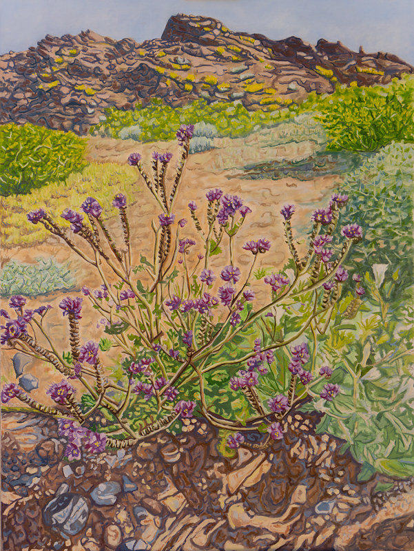 Oil painting Phacelia by Crystal Dipietro
