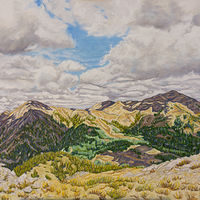 Oil painting Mountain Majesty by Crystal Dipietro