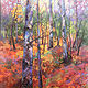 Acrylic painting Fall Festival by Marty Husted