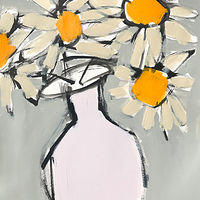 Acrylic painting Sunny Flowers by Sarah Trundle