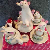 Mouse Tea Party by Valerie Johnson