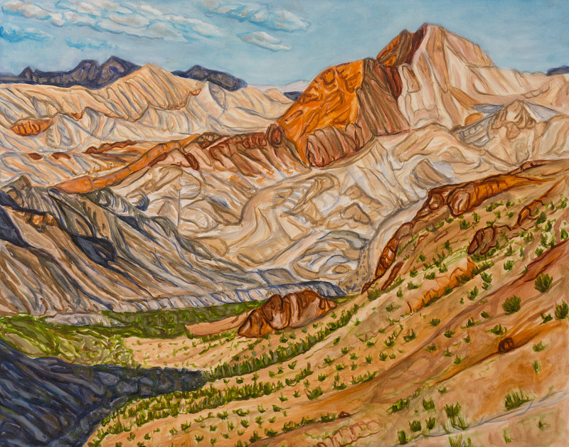 Oil painting Sentinel From Boulder Peak by Crystal Dipietro