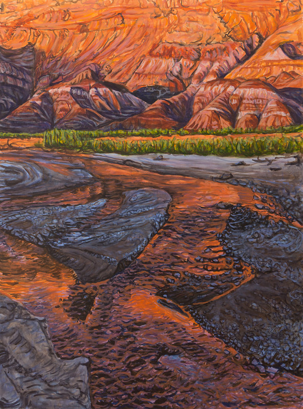 Acrylic painting Evening on the Paria by Crystal Dipietro