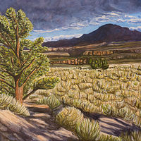 Acrylic painting High Desert Storm by Crystal Dipietro