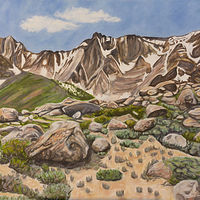 Oil painting Sierra Ridge by Crystal Dipietro