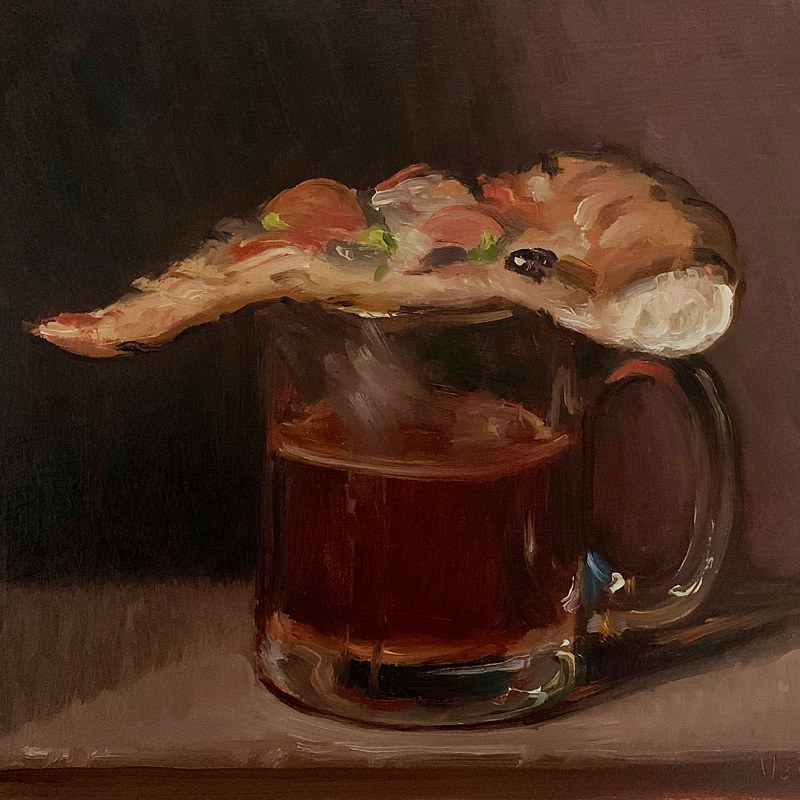 """Pizza & Coffee""  by Noah Verrier"