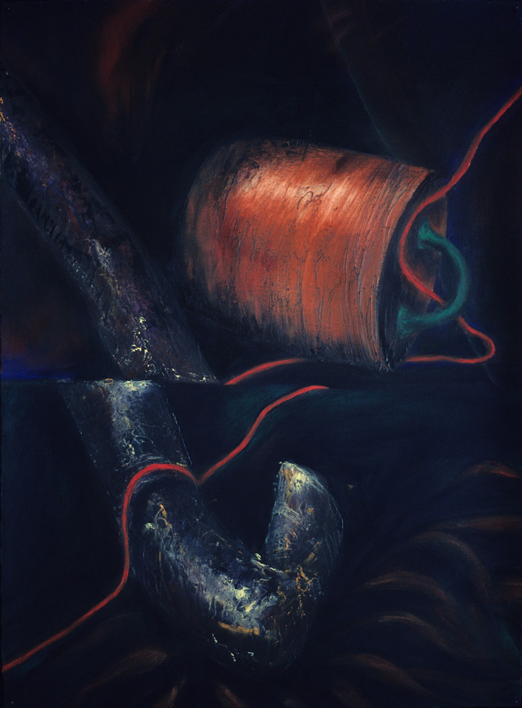 Oil painting Below Ground I by Pamela  Speight