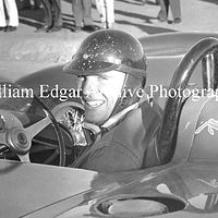 Photography [DG-GRRS7] Dan Gurney on start grid in Frank Arciero's Ferrari 375 Plus - Riverside Raceway - November 17, 1957 by William Edgar