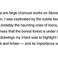 Boreal Forest Drawings Statement by Pamela  Speight