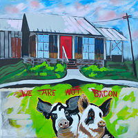 Painting We Are Not Bacon by Gordon Sellen
