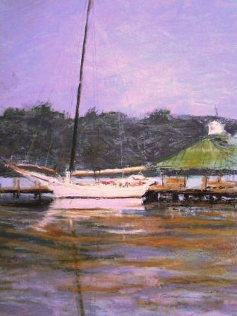 Skipjack on the Severn.11x17 pastel  by Michael Gaudreau