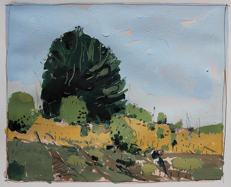Acrylic painting Afternoon Hill  by Harry Stooshinoff