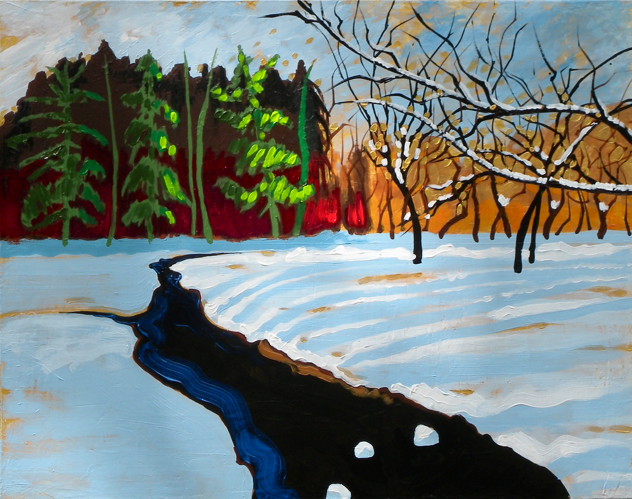 Painting Winter Shine by Gordon Sellen
