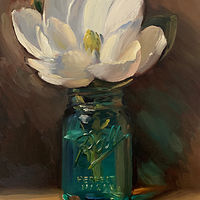 """Magnolia in Vintage Ball Jar"" by Noah Verrier"