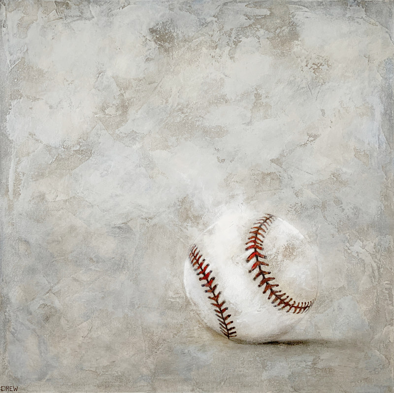 Acrylic painting Baseball by Drew Marin