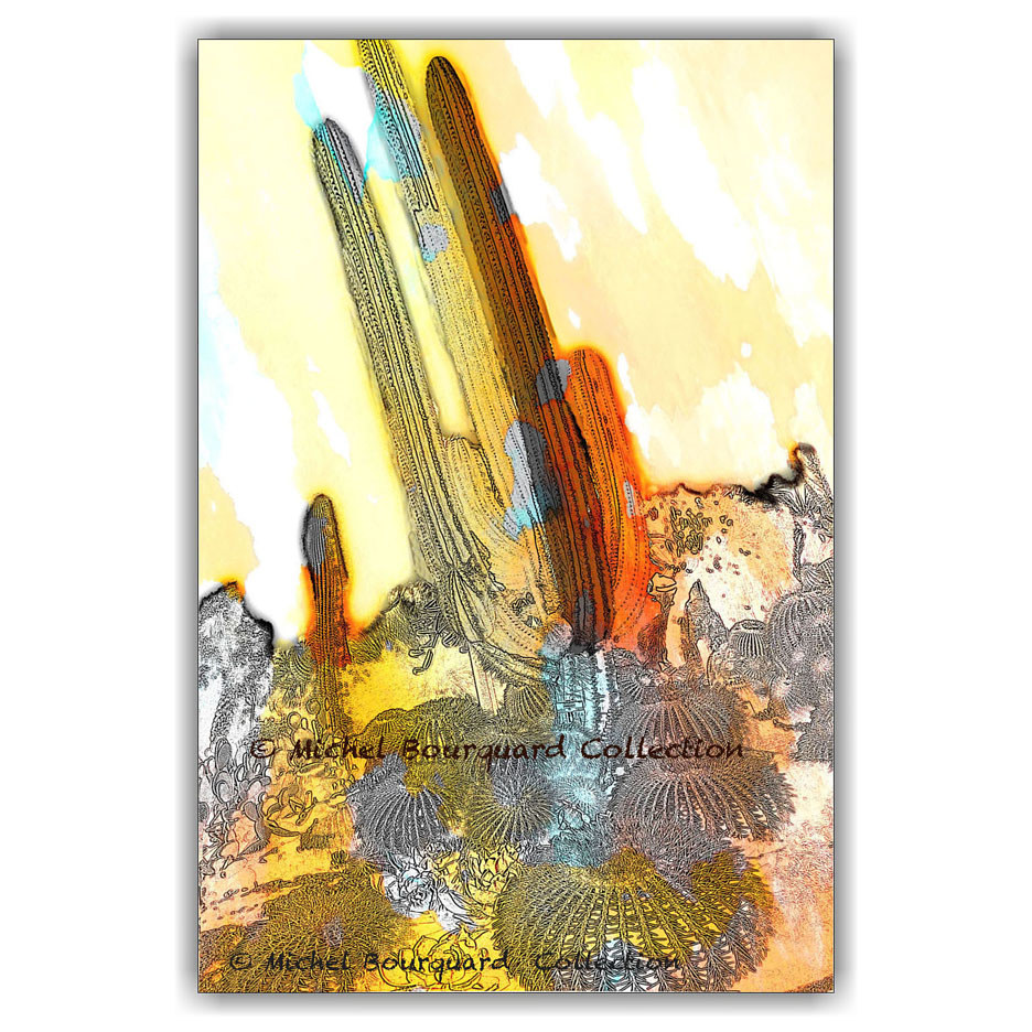 Cacti cartoonish by Michel Bourquard