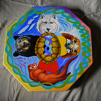 Painting Drum by Lisa  Baechtle