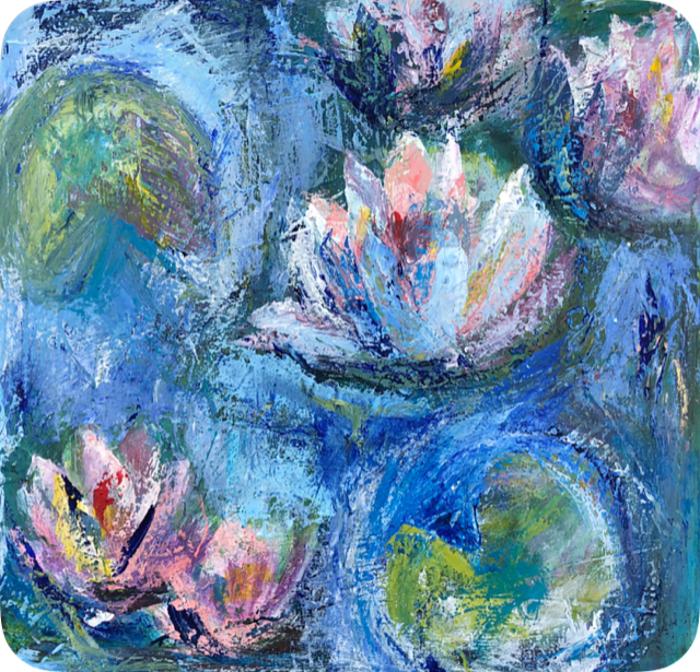 Acrylic painting lilly delight by Jan Pearson