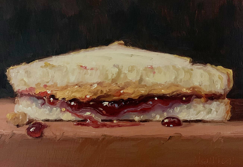"""PB&J Half"" LARGE SCALE 24x16 by Noah Verrier"