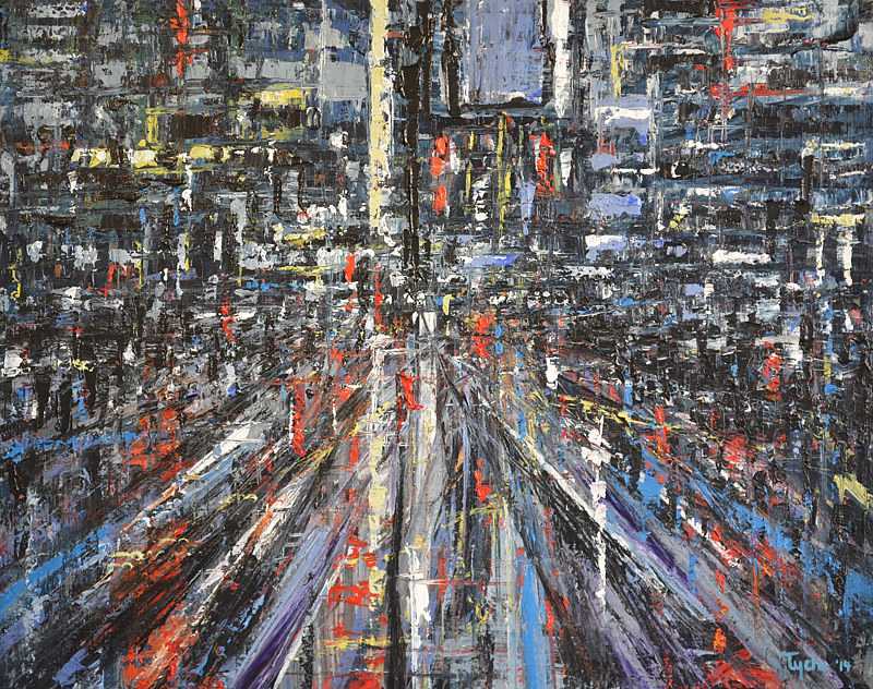 Acrylic painting Urban Rhapsody No. 2 by David Tycho