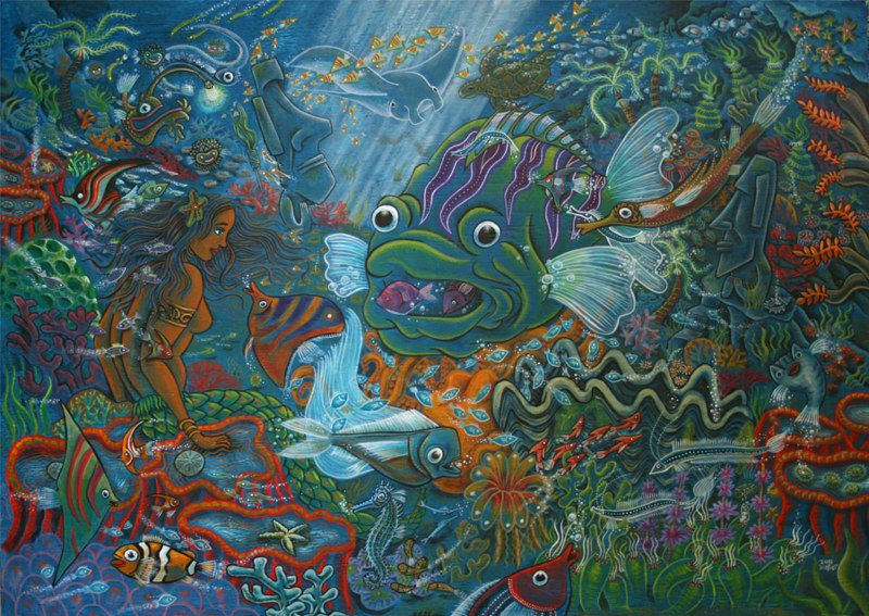 Painting 10 Land of the mermaids (Angelfish) by Kenneth M Ruzic
