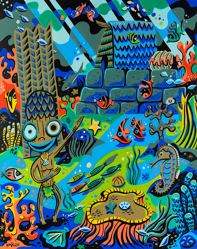 Painting 20 Kanaloa's hut by Kenneth M Ruzic
